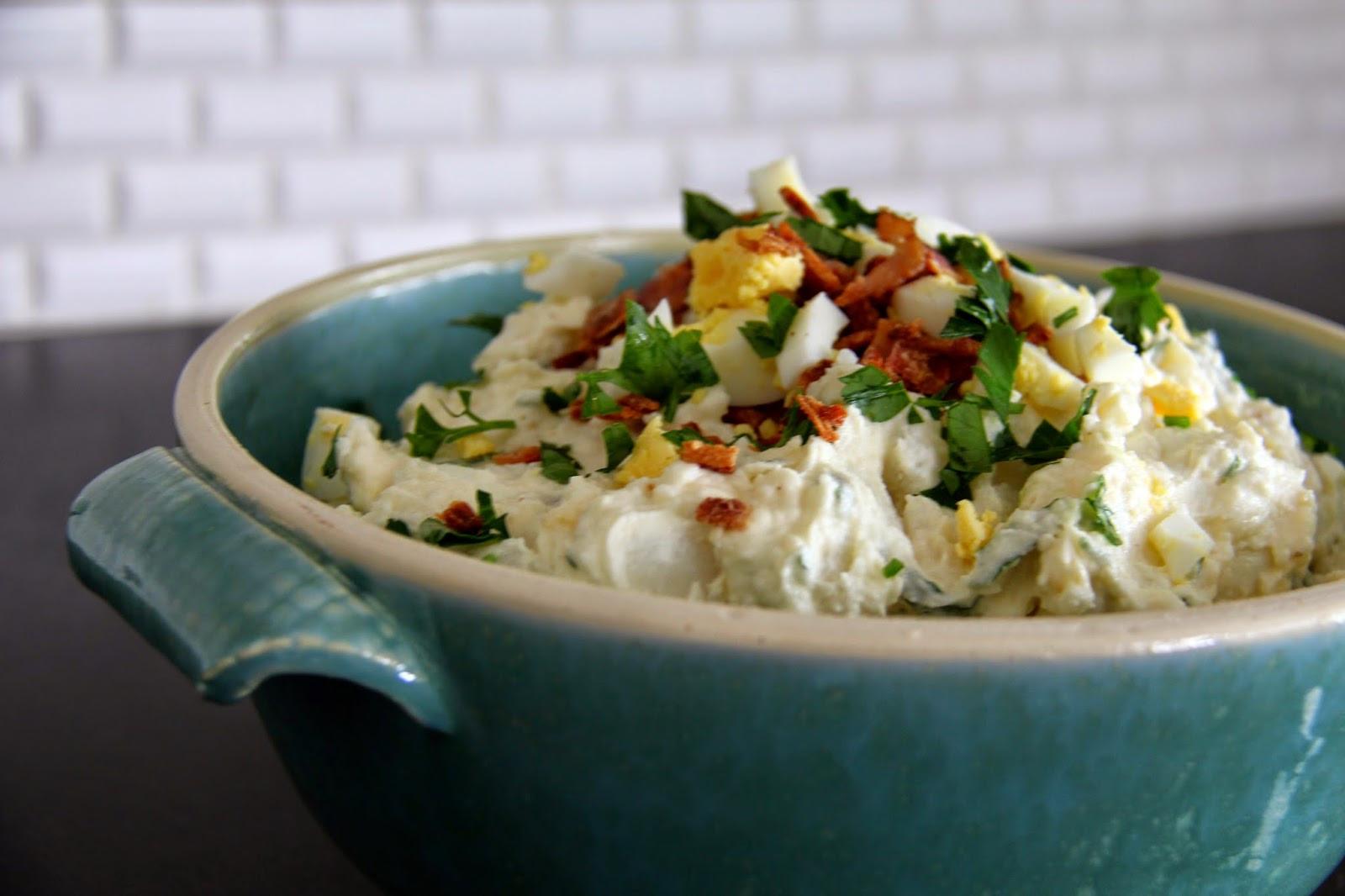 Potato Salad With Sour Cream  A Bountiful Kitchen Sour Cream and Bacon Potato Salad