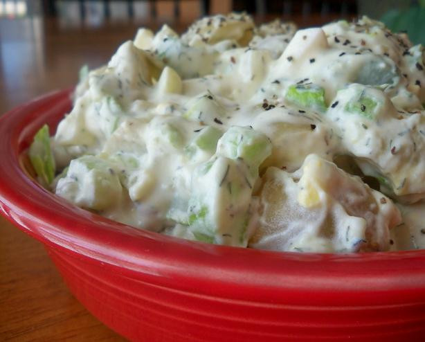 Potato Salad With Sour Cream  Potato Salad With Sour Cream And Dill Recipe Food