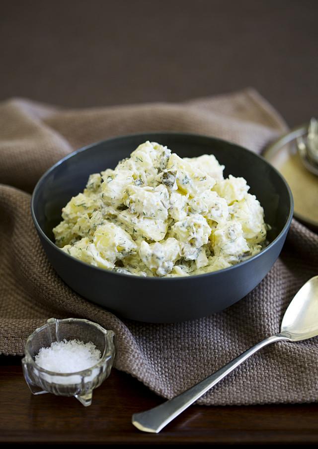 Potato Salad With Sour Cream  European Style Potato Salad With Sour Cream Dill Dressing