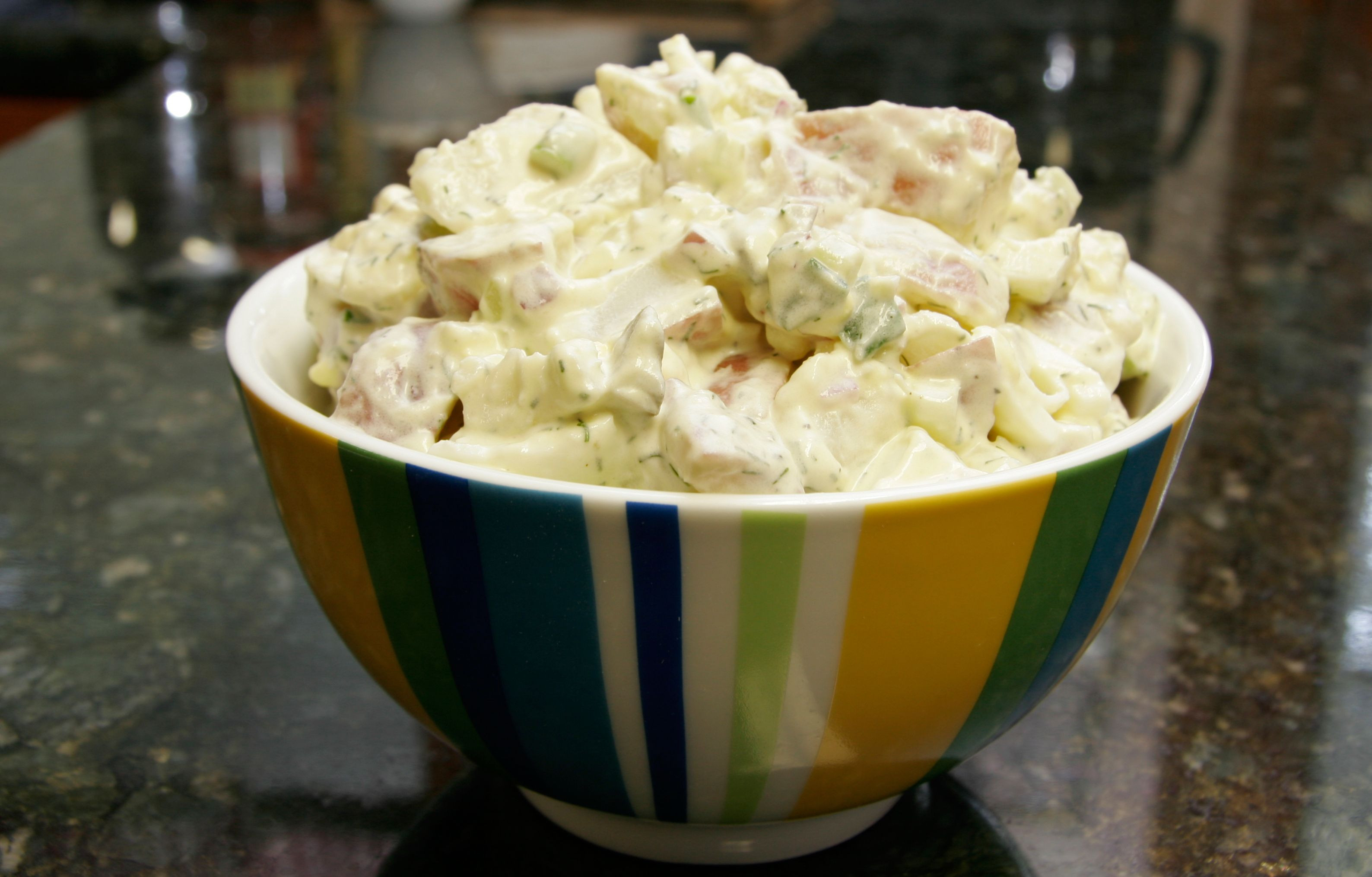 Potato Salad With Sour Cream  Sour Cream Potato and Egg Salad Recipe