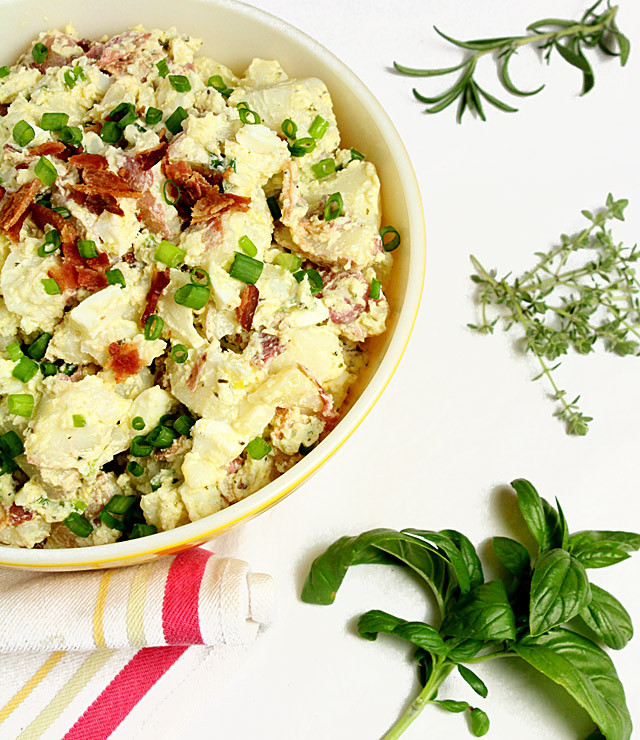 Potato Salad With Sour Cream  Sour Cream and Bacon Potato Salad Creative Culinary