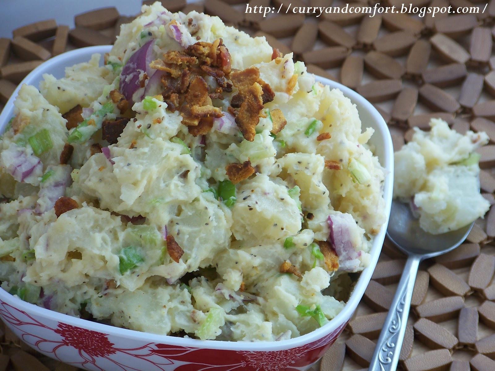 Potato Salad Without Eggs  Kitchen Simmer Potato Salad with Bacon
