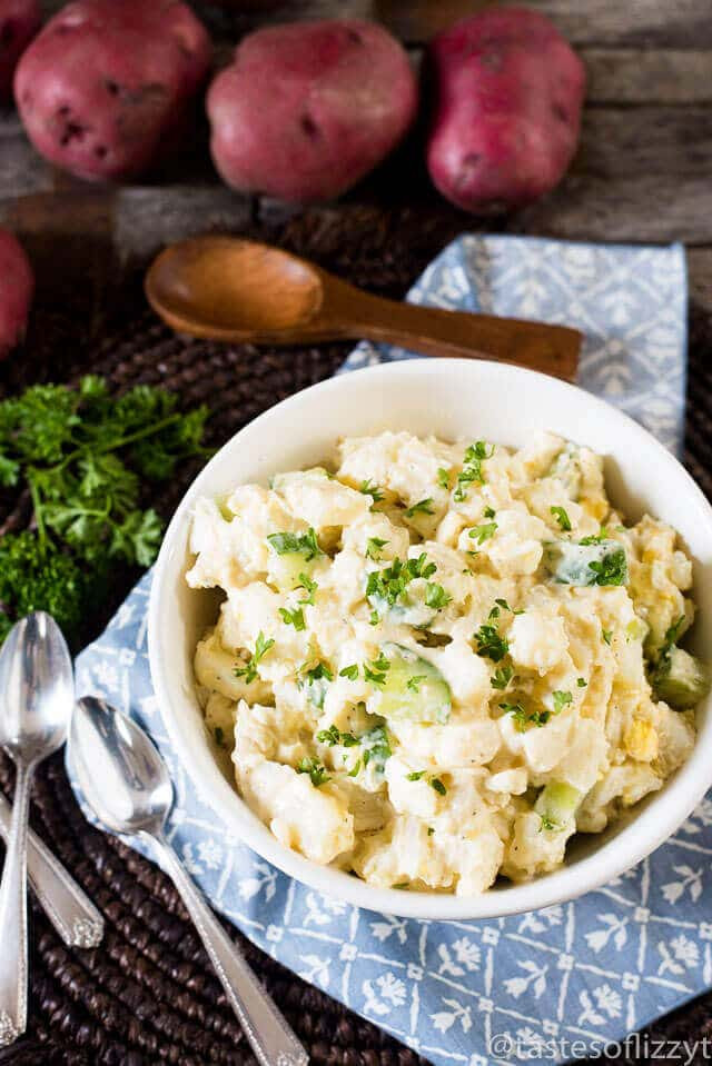 Potato Salad Without Eggs  Classic Potato Salad Recipe with Potatoes Eggs and Cucumbers