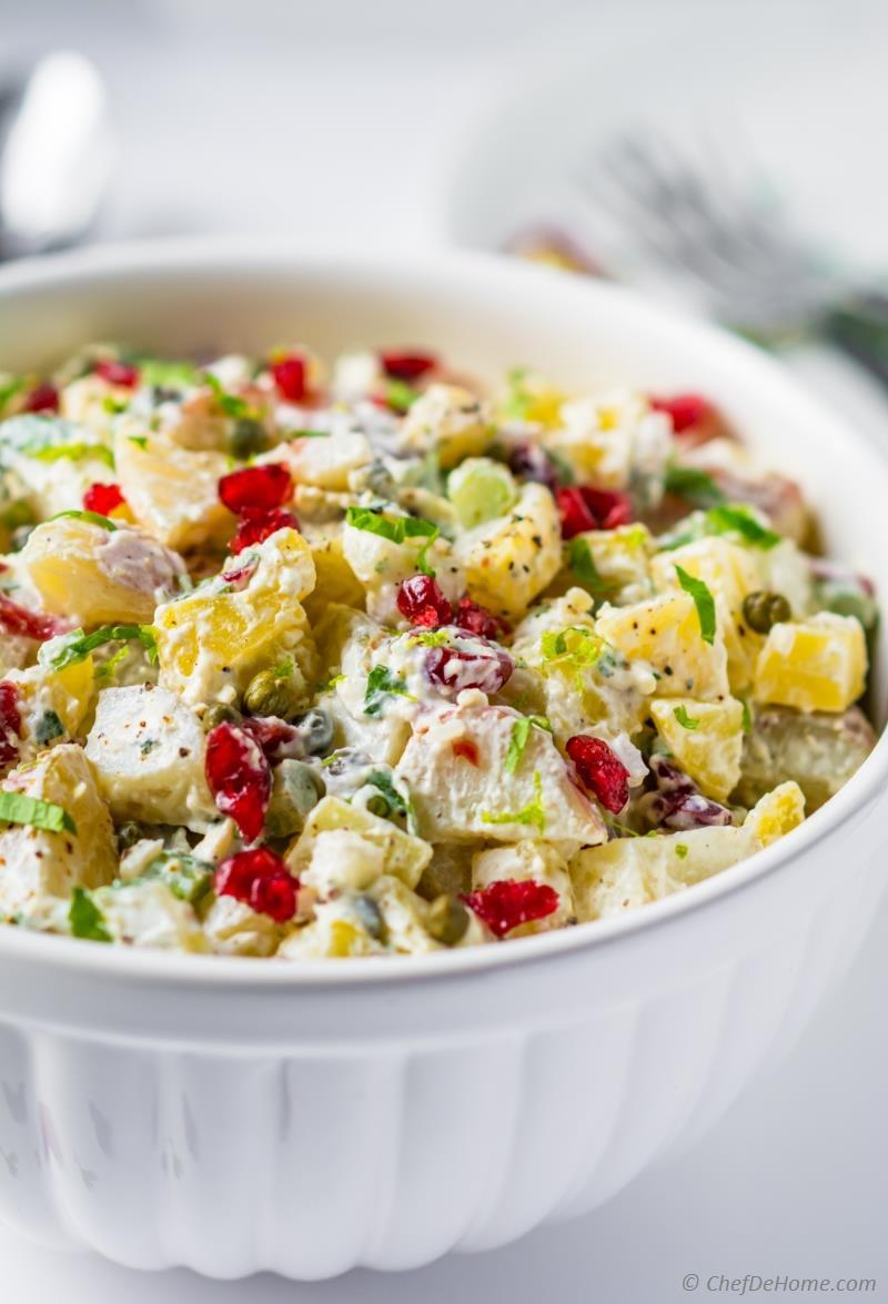 Potato Salad Without Eggs  potato salad without eggs or mayonnaise