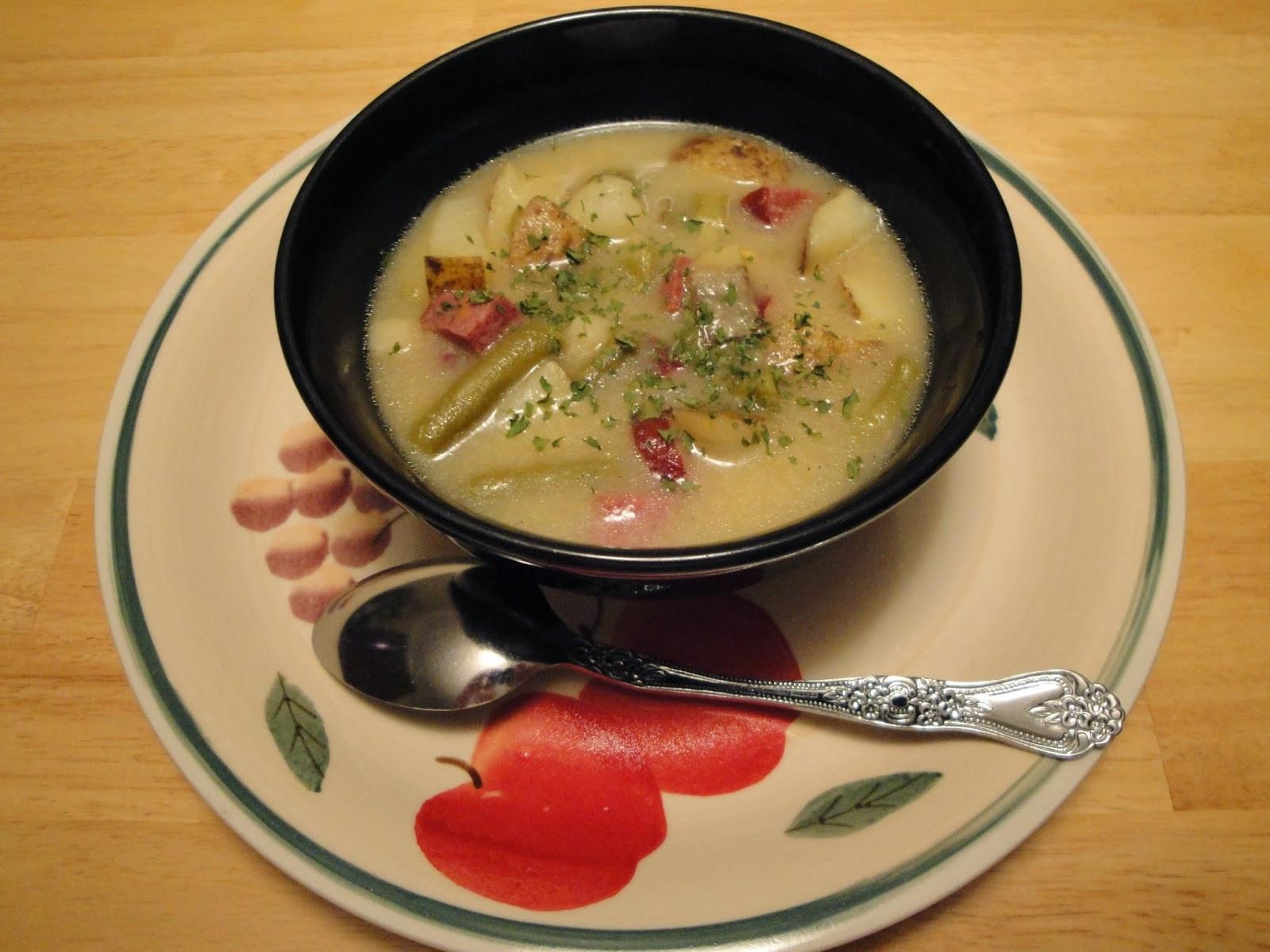 Potato Sausage Soup  Sausage potato soup with sage Cook and Post