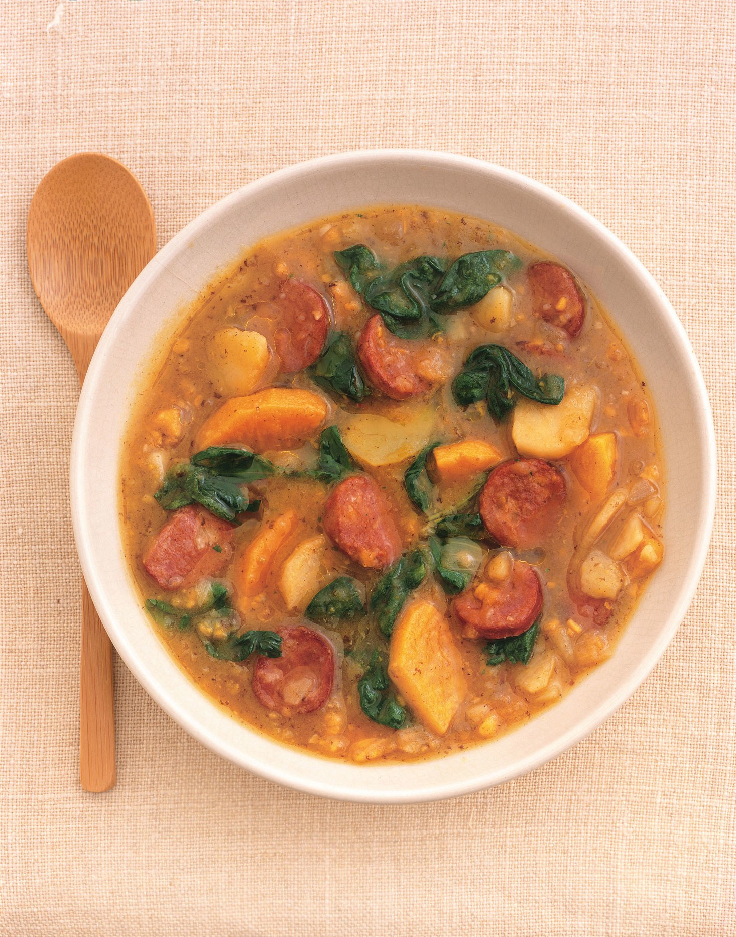 Potato Sausage Soup  Sweet Potato and Sausage Soup recipe