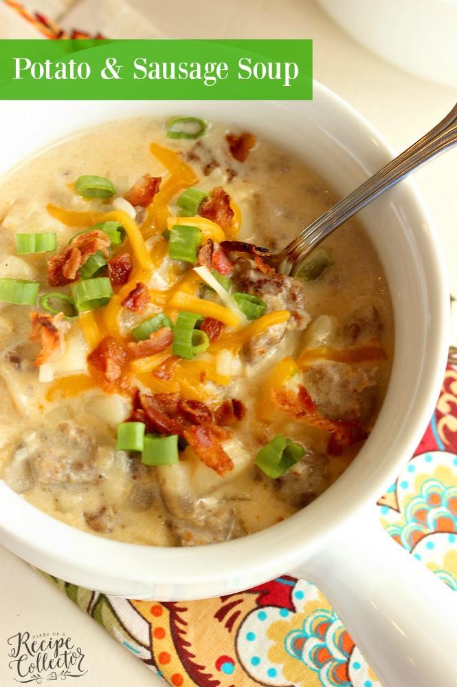 Potato Sausage Soup  Potato & Sausage Soup Diary of A Recipe Collector