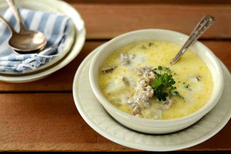 Potato Sausage Soup  creamy sausage potato soup