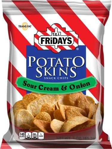 Potato Skin Chips  Amazon TGI Friday s 4 oz Cheddar & Bacon Potato Skins