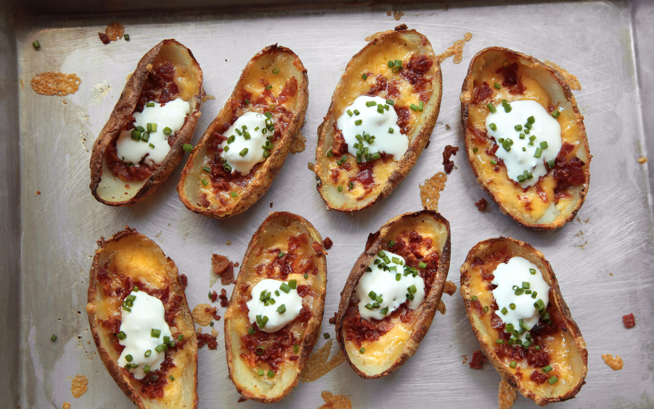 Potato Skin Recipes  Easy Potato Skins Recipe Chowhound
