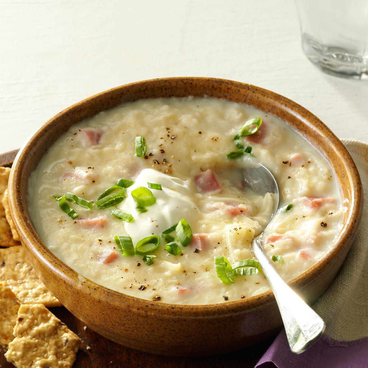Potato Soup Slow Cooker  Slow Cooker Potato & Ham Soup Recipe