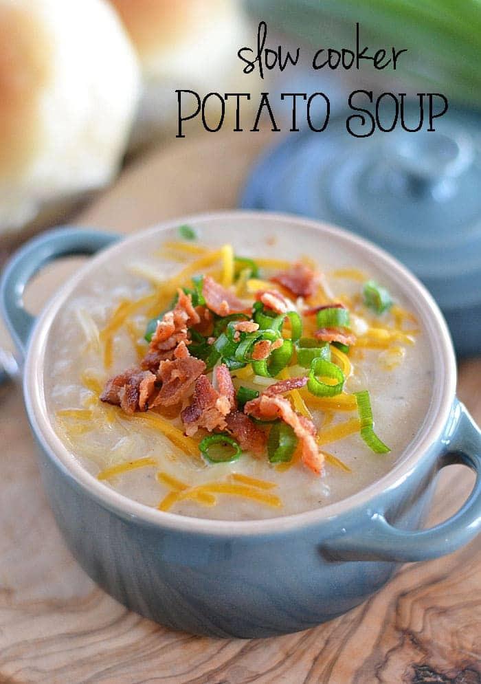 Potato Soup Slow Cooker  Slow Cooker Potato Soup