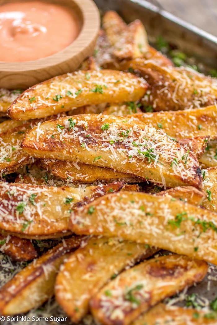 Potato Wedge Recipe  Crispy Potato Wedges Sprinkle Some Sugar