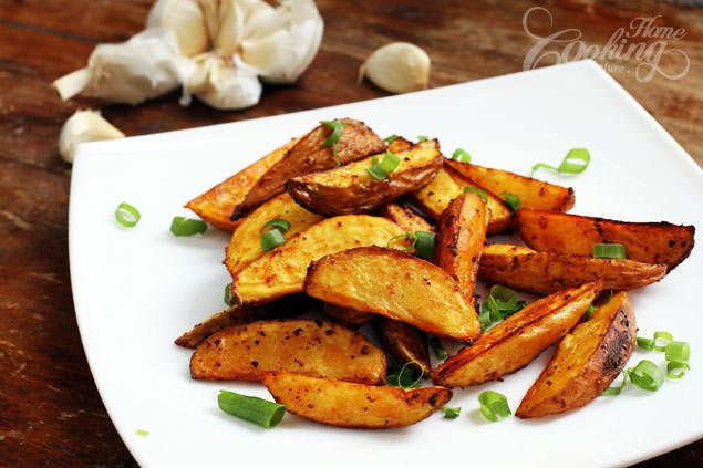 Potato Wedge Recipe  Baked Potato Wedges Home Cooking Adventure