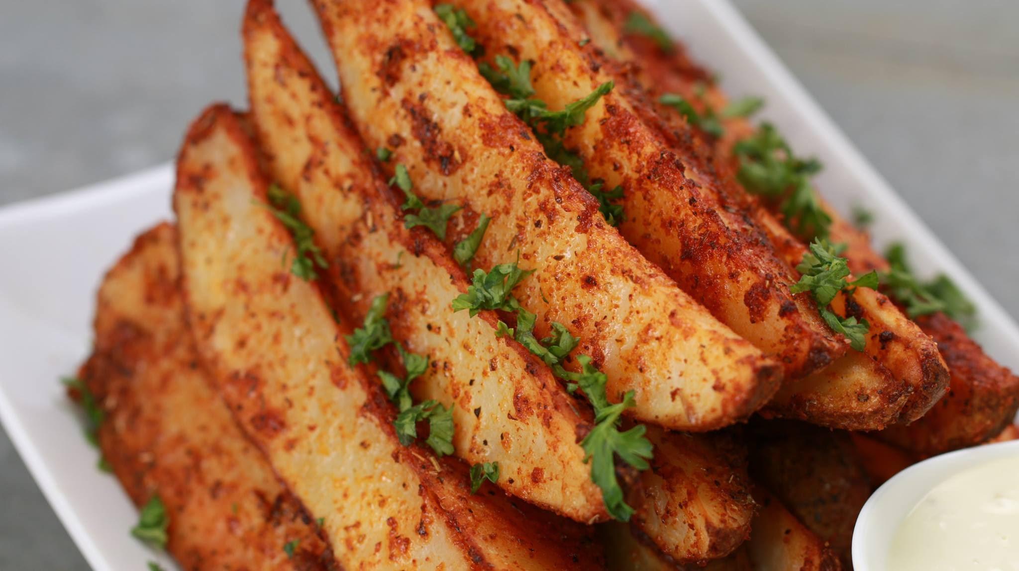 Potato Wedge Recipe  Baked Italian Potato Wedges Recipe