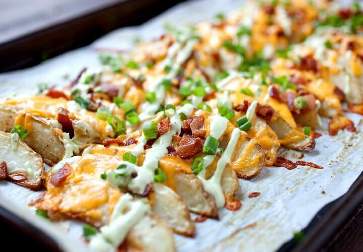 Potato Wedge Recipe  Loaded potato Wedges Baked and Crispy Macheesmo