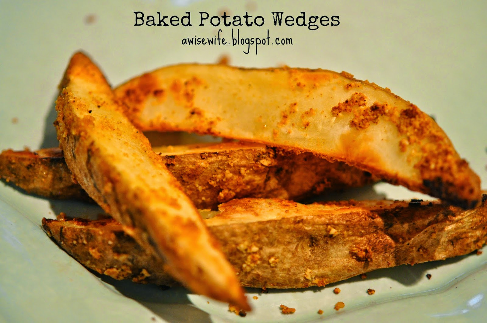 Potato Wedges Baked  Life of a Wise Wife Baked Potato Wedges