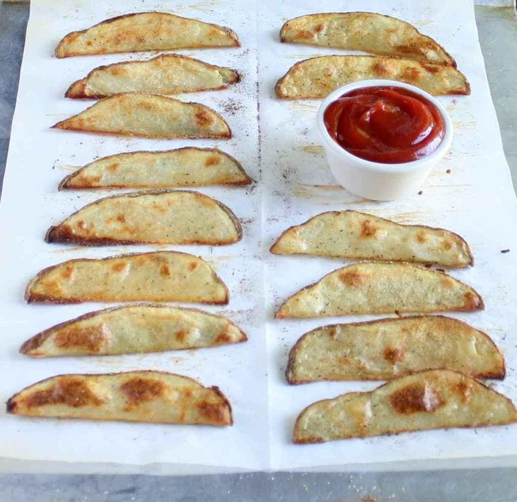 Potato Wedges Baked  Crispy Baked Potato Wedges