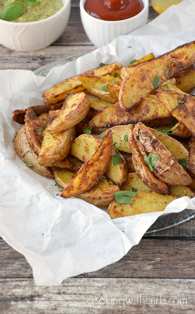 Potato Wedges Baked  Baked Potato Wedges Cooking With Curls