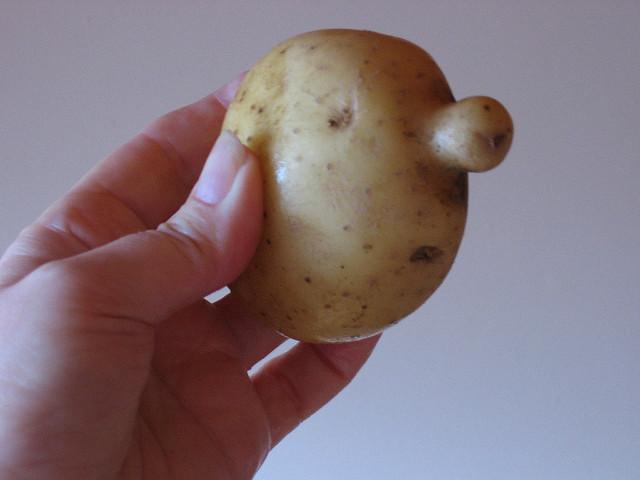 Potato With A Face  Sad Potato Face
