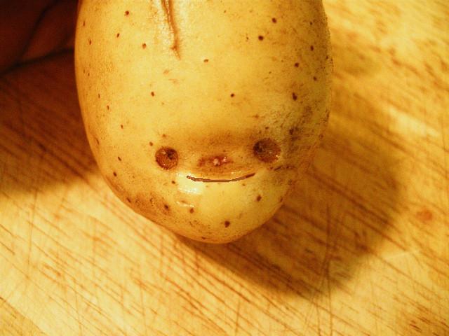 Potato With A Face  potato face