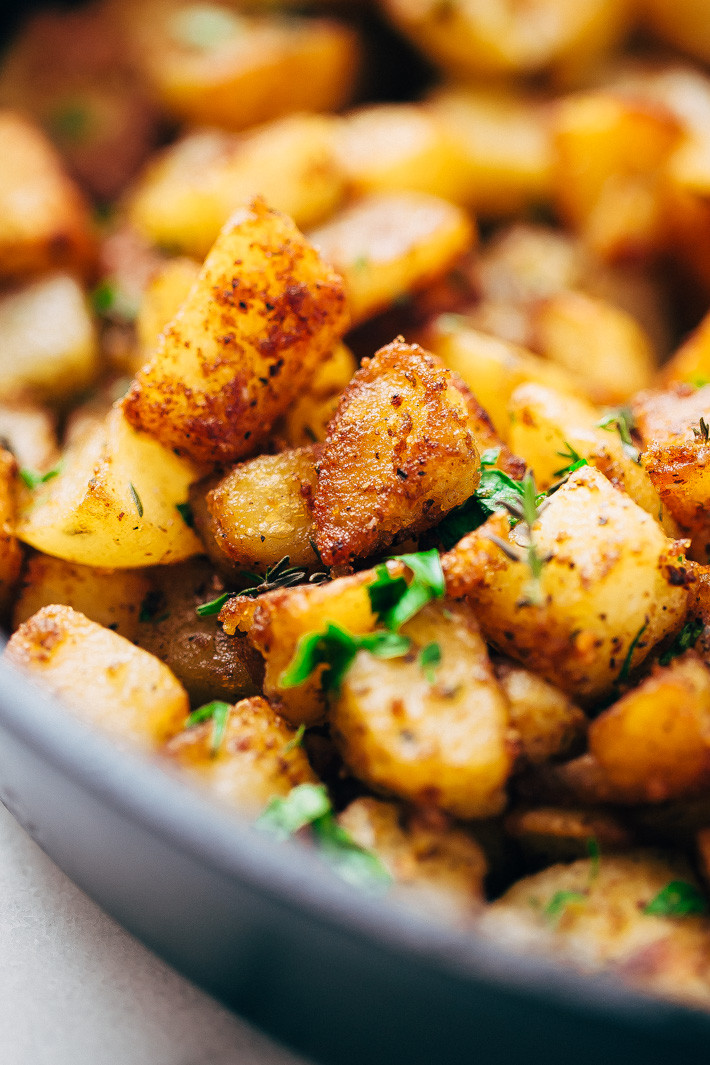 Potatoes Recipe For Breakfast  Easy Skillet Breakfast Potatoes Recipe