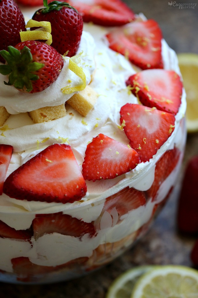Pound Cake Desserts  strawberries and pound cake trifle