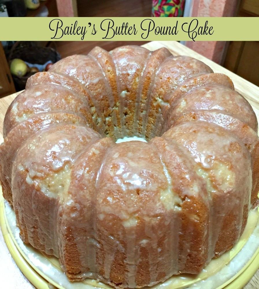 Pound Cake Glaze  Bailey s Butter Pound Cake and Glaze