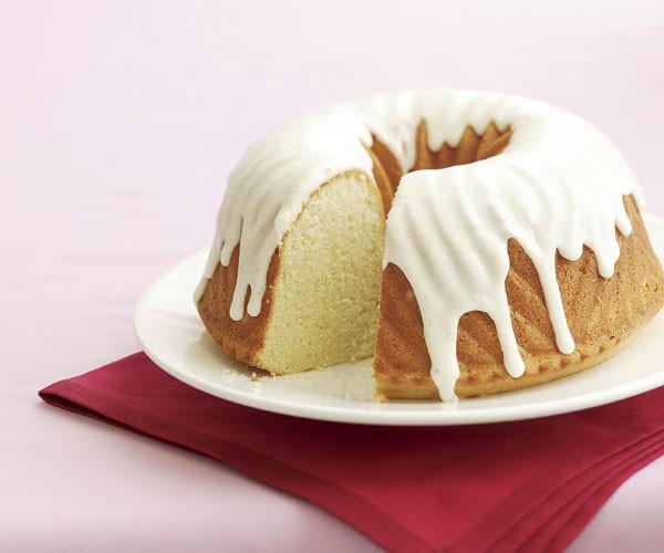 Pound Cake Glaze  Vanilla & Sour Cream Pound Cake with Vanilla Glaze