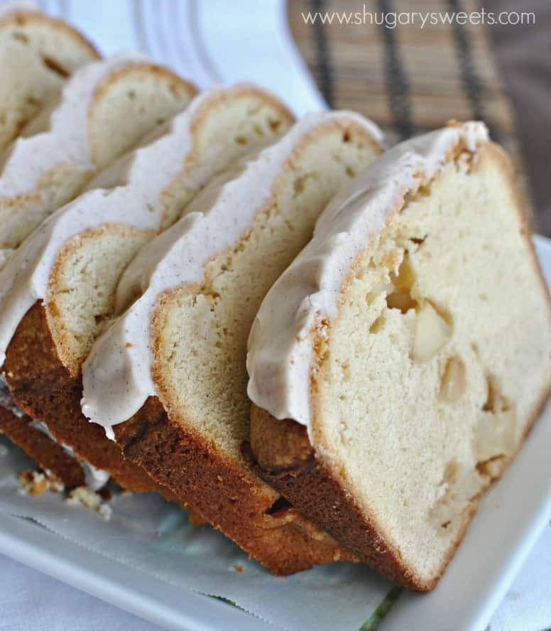 Pound Cake Glaze  Apple Pound Cake with Cinnamon Glaze Shugary Sweets