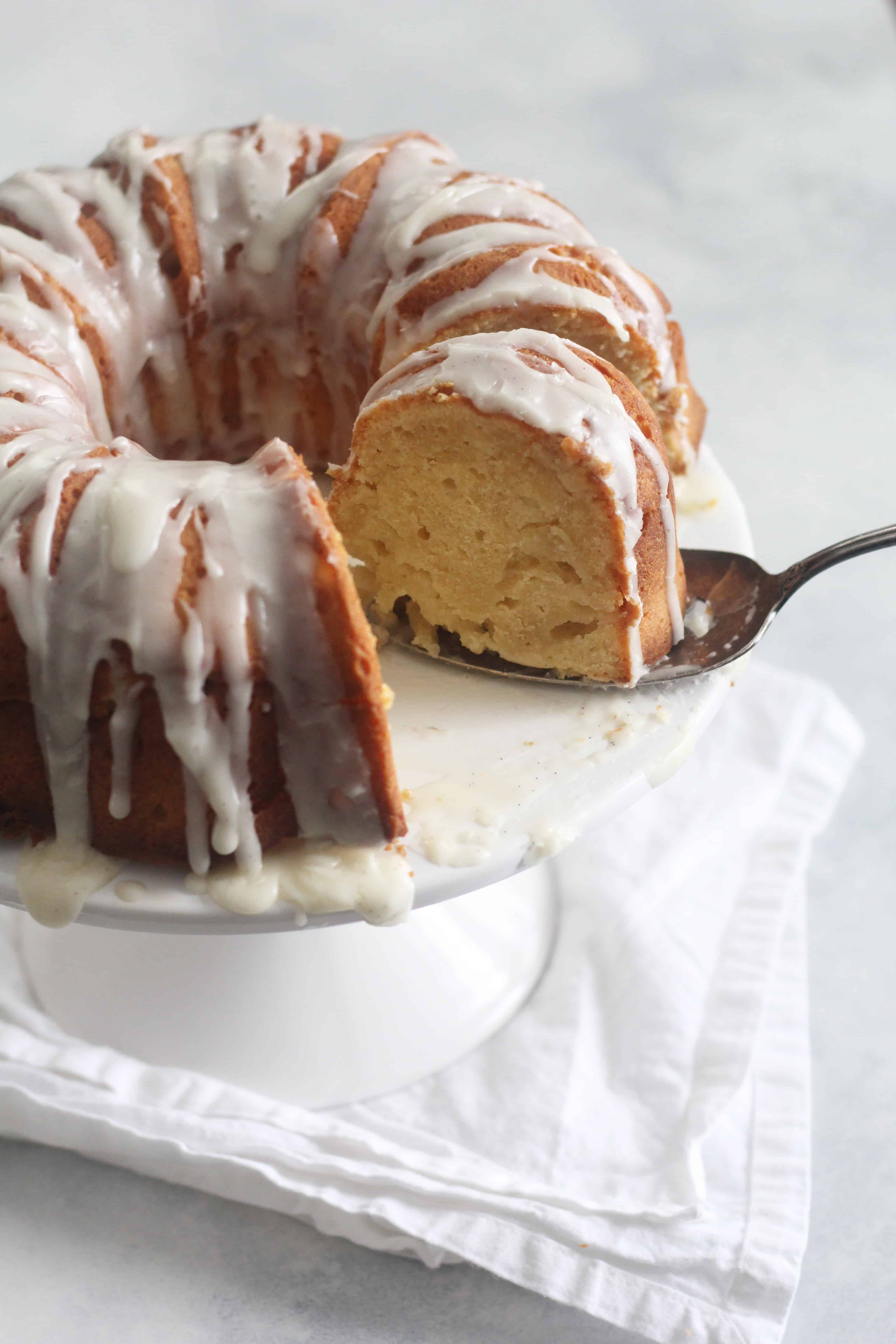 Pound Cake Glaze  Cream Cheese Pound Cake with Vanilla Bean Glaze