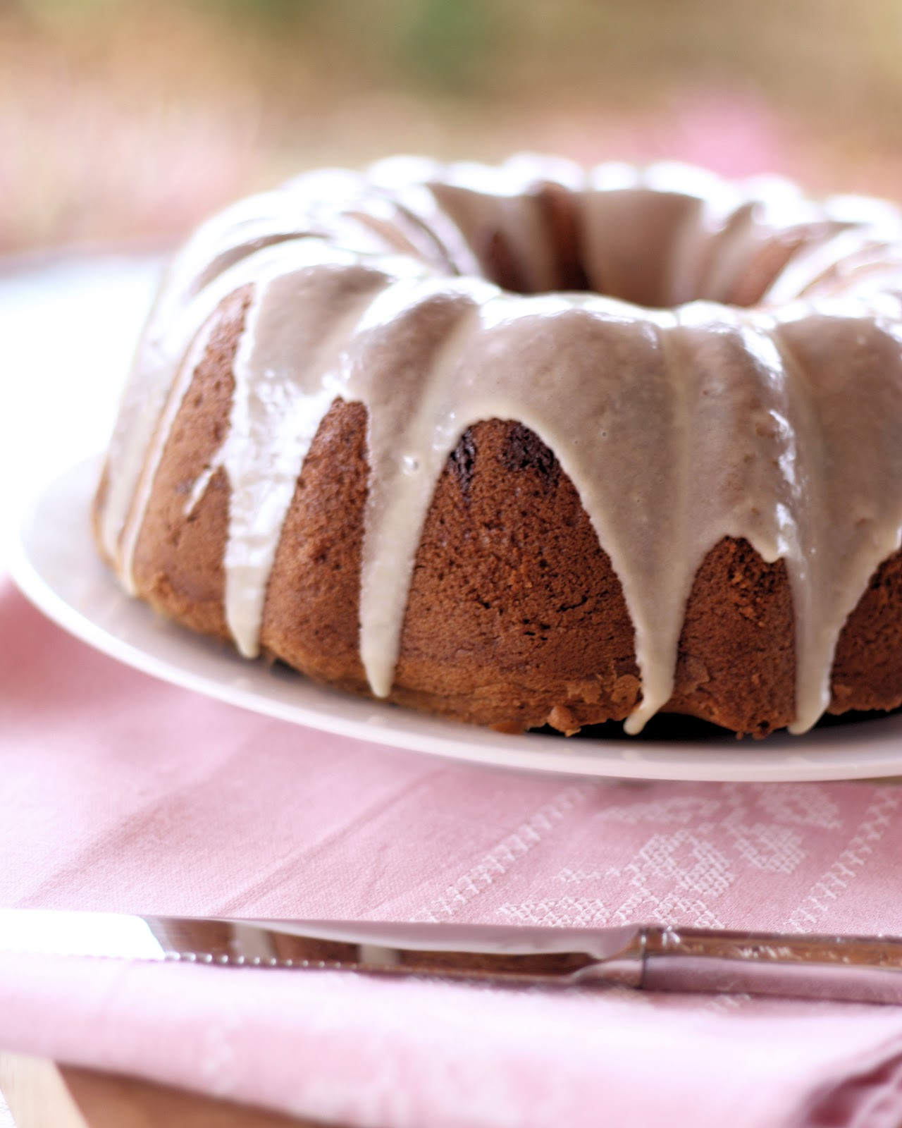 Pound Cake Glaze  Brown Sugar and Chocolate Chip Pound Cake with Maple Glaze
