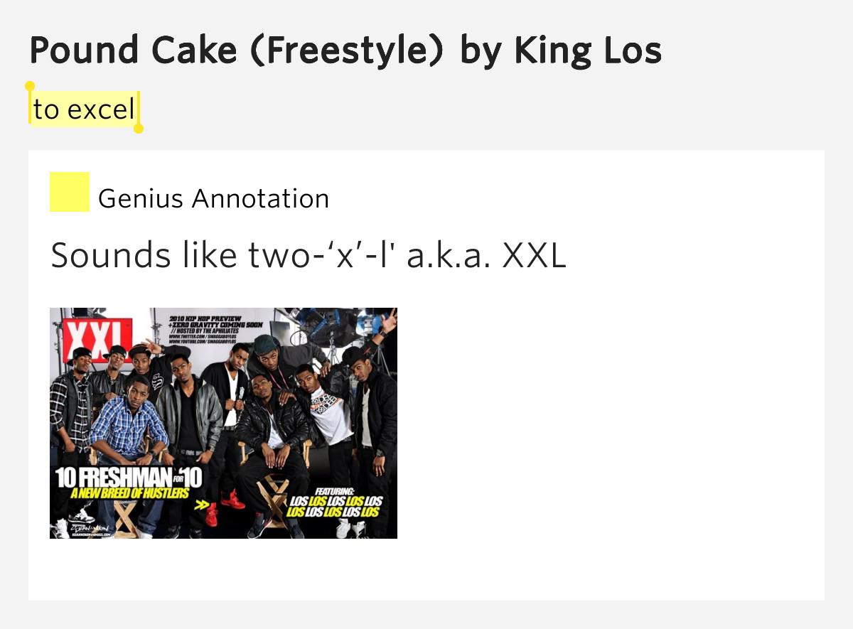 Pound Cake Lyrics  To excel – Pound Cake Freestyle Lyrics Meaning