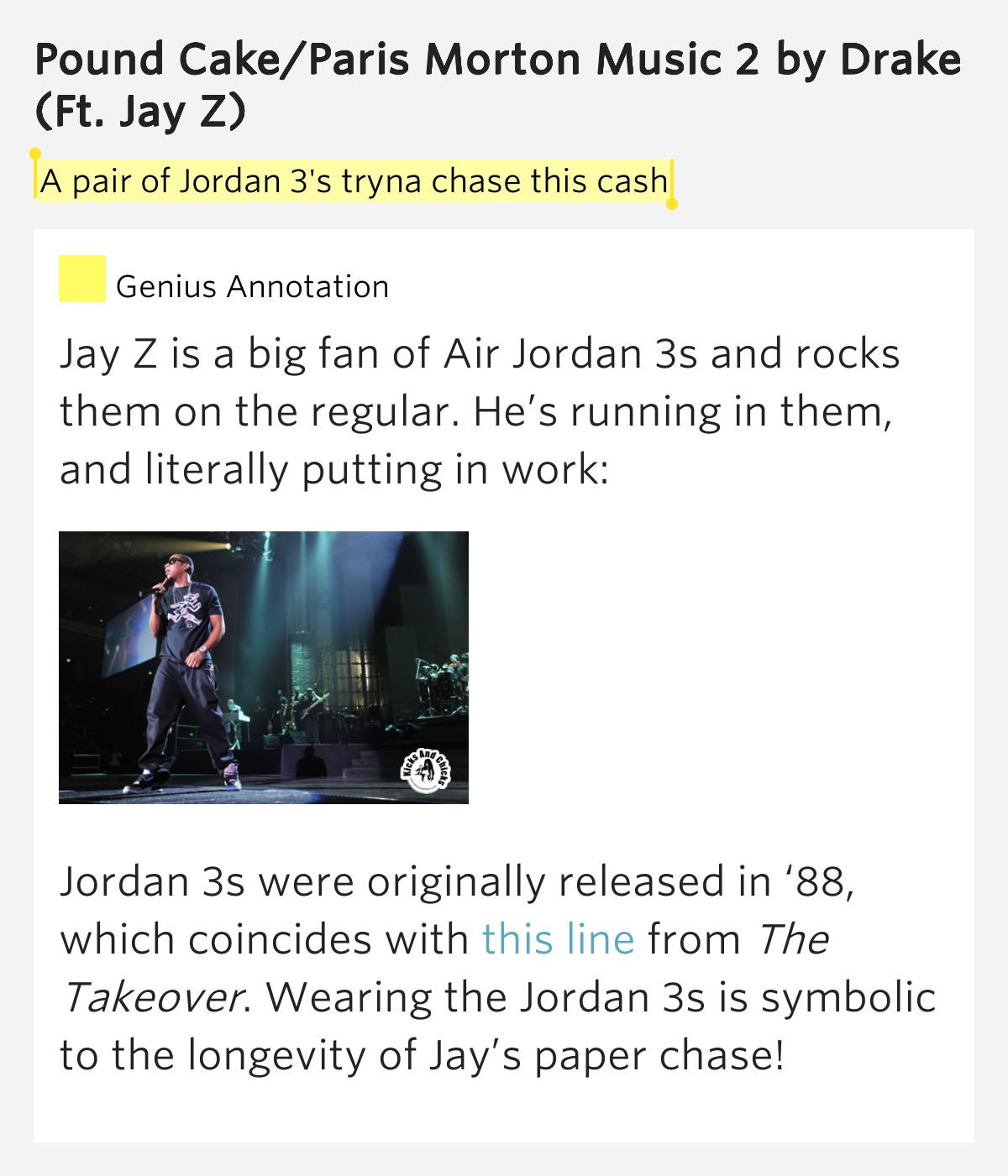 Pound Cake Lyrics  A pair of Jordan 3 s tryna – Pound Cake Paris Morton Music 2