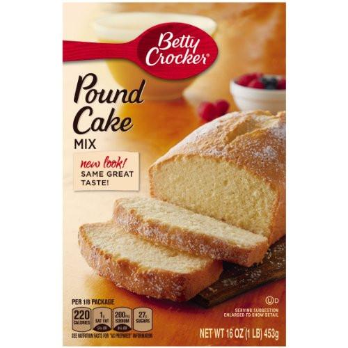 Pound Cake Mix  Betty Crocker Pound Cake Mix 16 oz Box Pack of 12 New