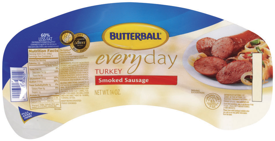 Pre Cooked Thanksgiving Dinner Walmart 2018  butterball turkey sausage nutrition