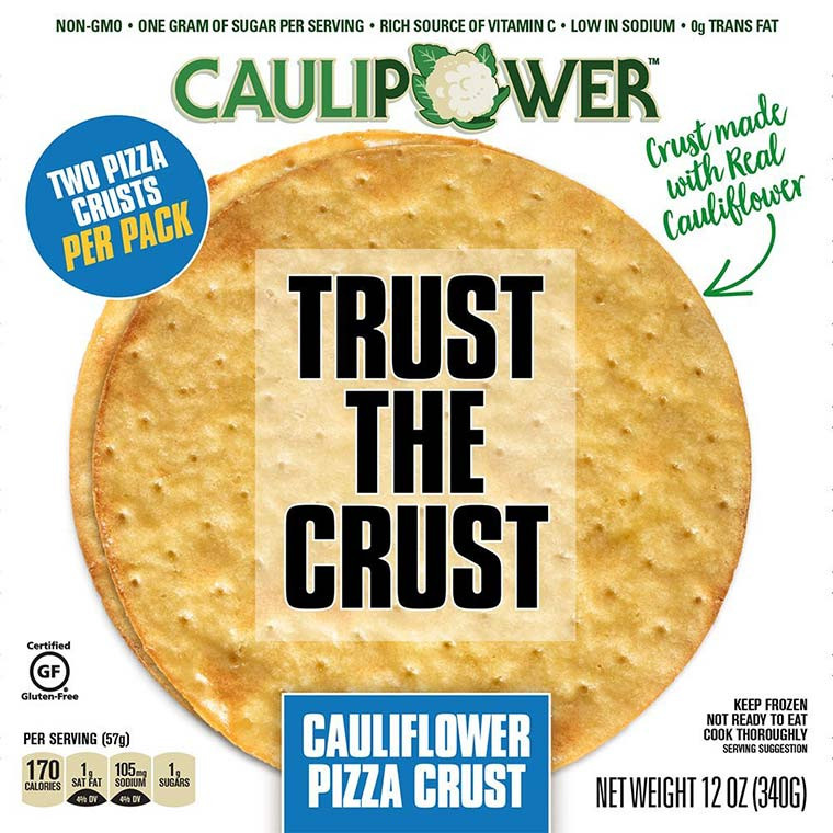 Premade Cauliflower Pizza Crust  5 Foods With Surprisingly Healthy Ingre nts