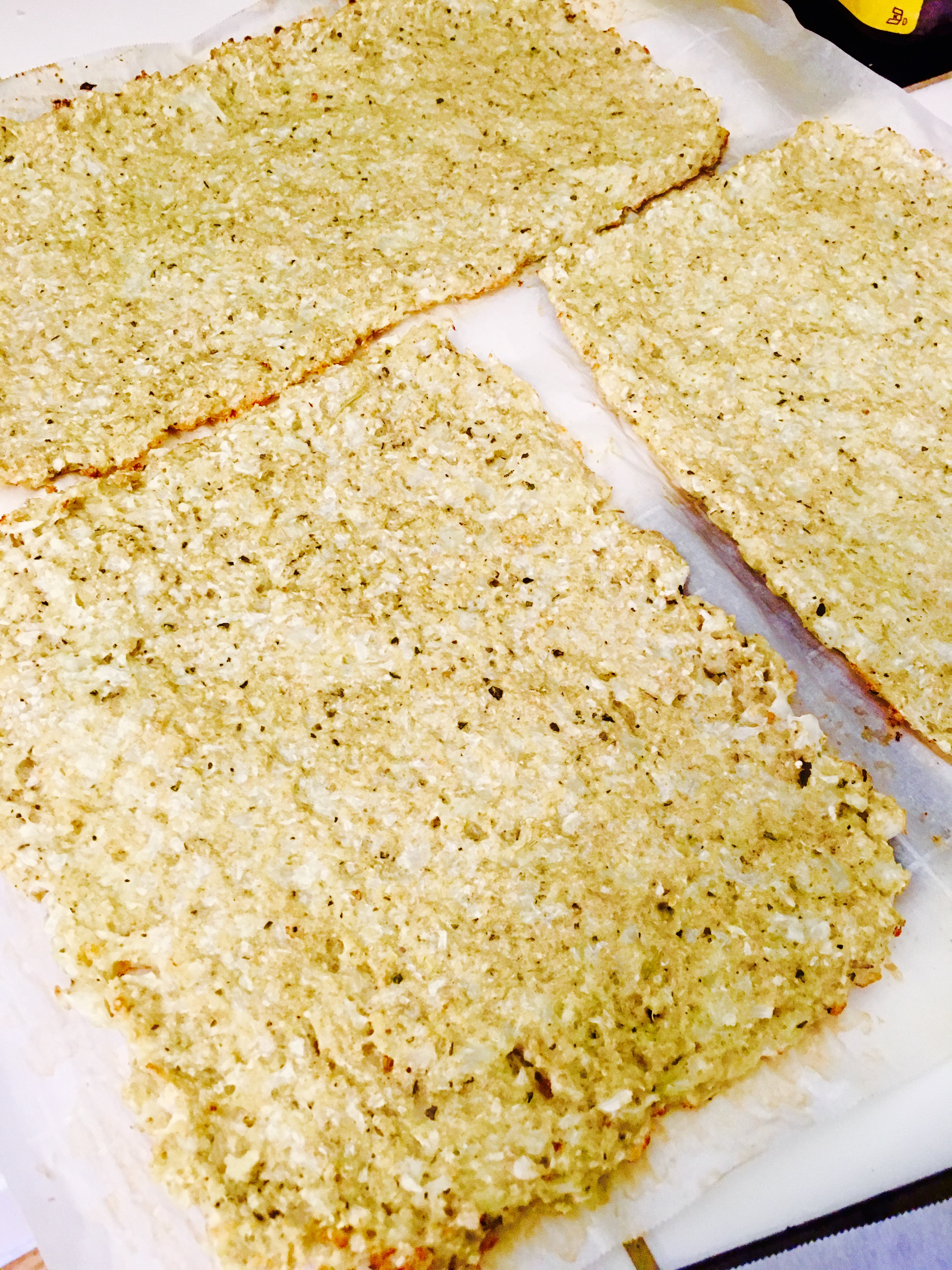 Premade Cauliflower Pizza Crust  Frozen Cauliflower Pizza Granola Cookies and More WIAW