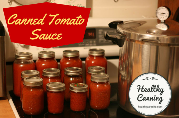Pressure Canning Tomato Sauce  Canning plain tomato sauce Healthy Canning