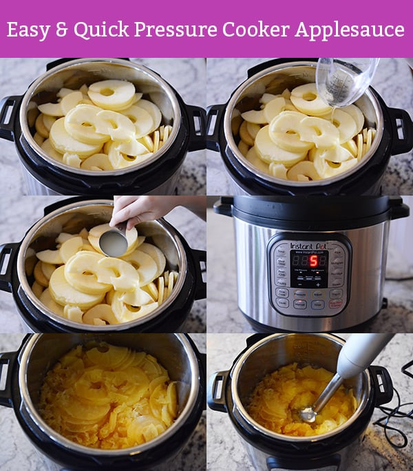 Pressure Cooker Applesauce  Quick and Easy Pressure Cooker Applesauce