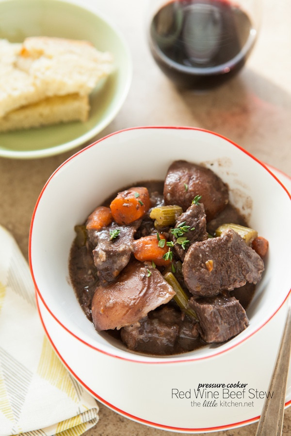 Pressure Cooker Beef Stew Recipe  Pressure Cooker Red Wine Beef Stew The Little Kitchen