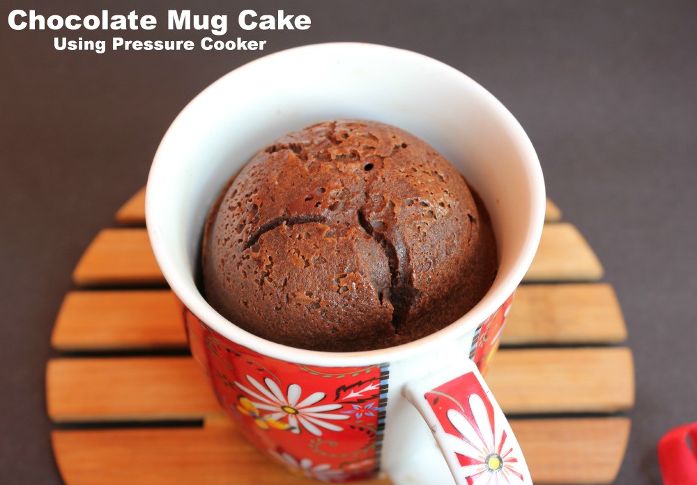 Pressure Cooker Dessert Recipes  Chocolate Mug Cake Using Pressure Cooker