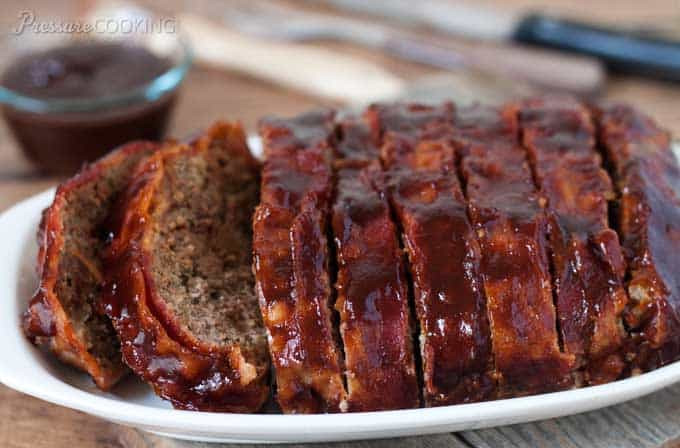 Pressure Cooker Meatloaf  BBQ Bacon Meatloaf Pressure Cooker Meatloaf