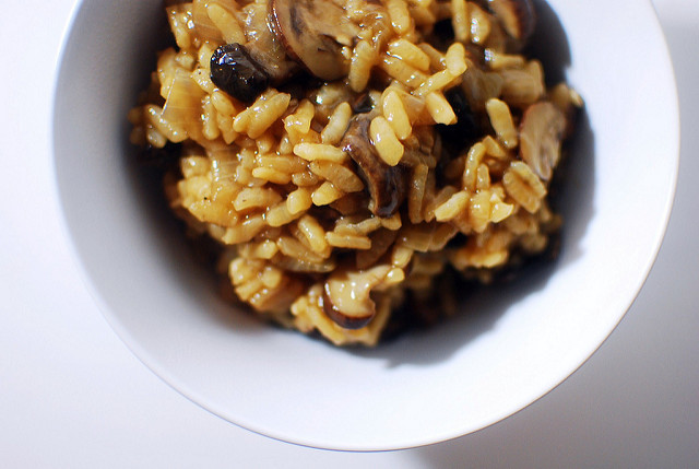 Pressure Cooker Mushroom Risotto  Hey that tastes good Pressure cooker mushroom risotto
