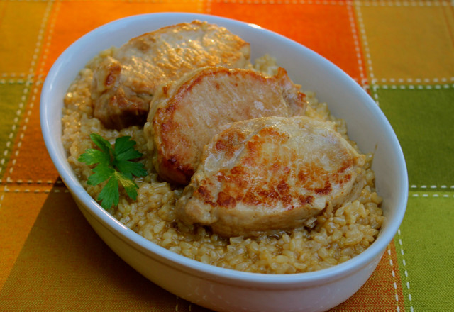 Pressure Cooker Pork Chops And Rice  Pressure Cooker Brined Pork Chops and Brown Rice Happy