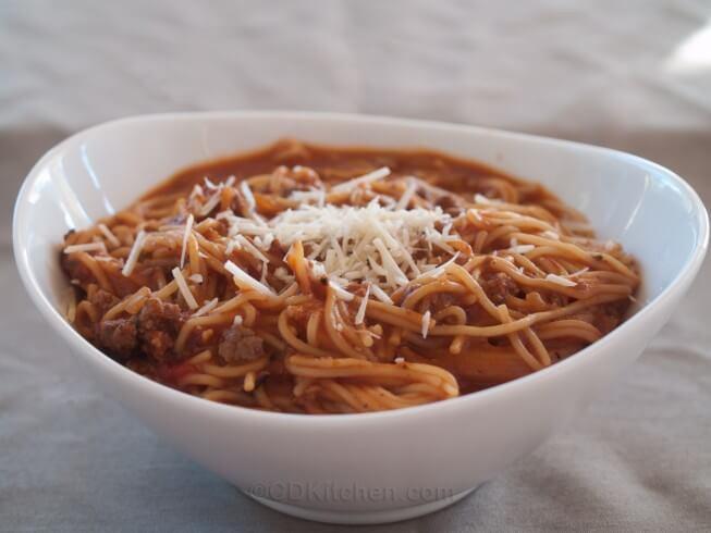 Pressure Cooker Spaghetti  Pressure Cooker e Pot Spaghetti Recipe