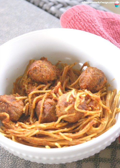 Pressure Cooker Spaghetti  Pressure Cooker Spaghetti and Meatballs Life is Sweeter