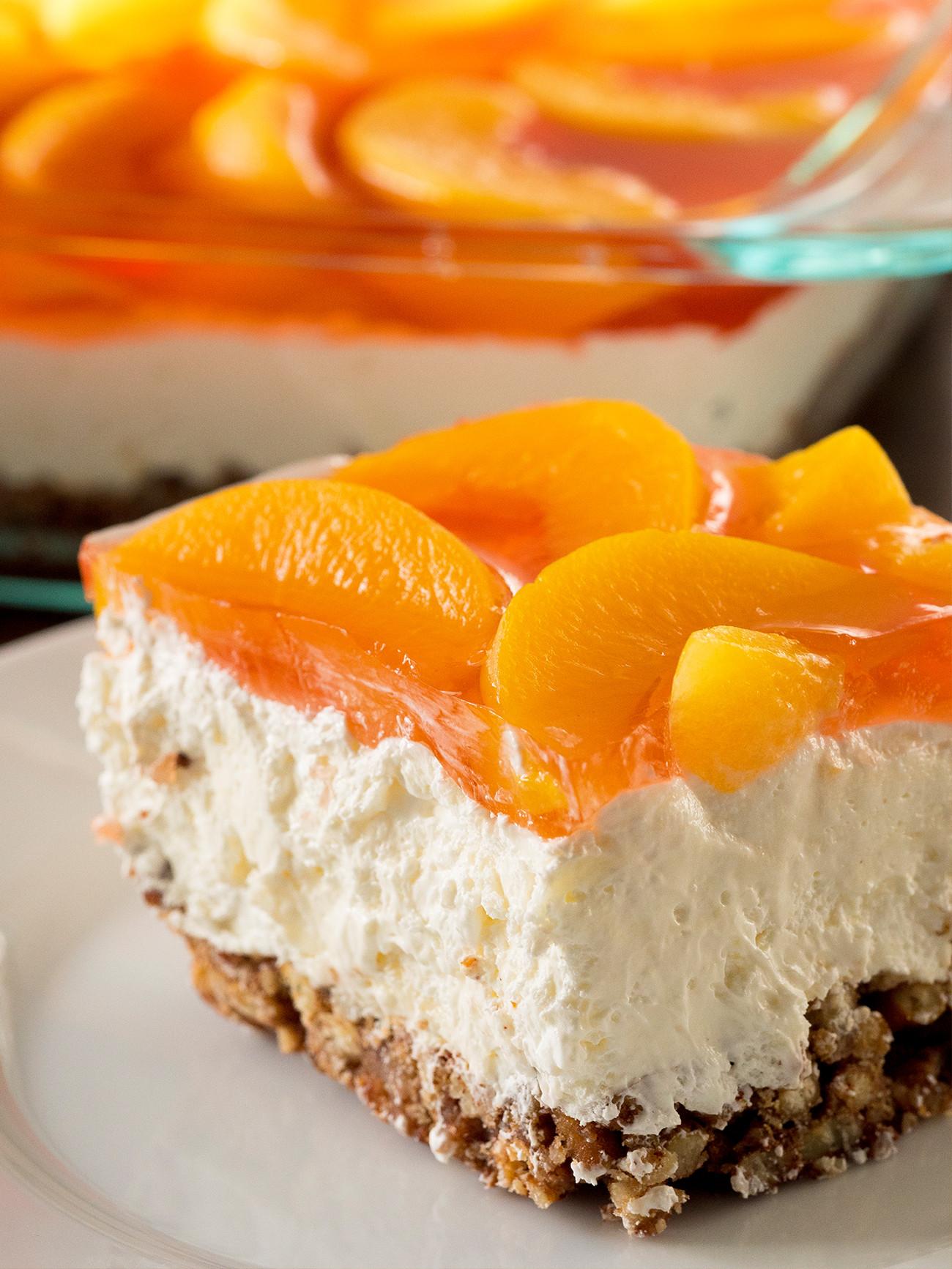 Pretzel Jello Dessert  Peach Pretzel Jello Salad – 12 Tomatoes