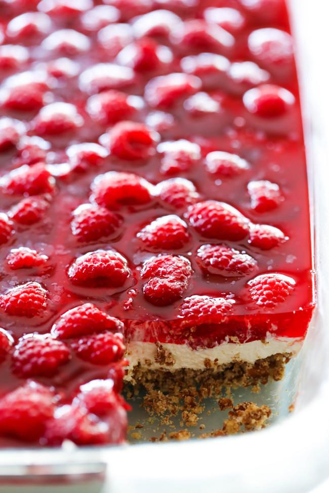 Pretzel Jello Dessert Recipe  Raspberry Pretzel Jello Dessert Chef in Training
