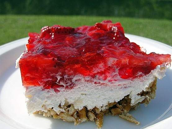 Pretzel Jello Dessert Recipe  Strawberry Jello Pretzel Dessert